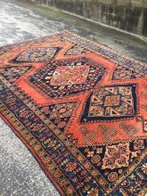 Unusual (Semi) Antique Persian Sarouk 8' x 10'.4