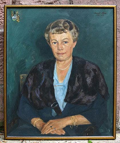 Pfau, Conrad 1885-1954, Portrait einer Frau mit
