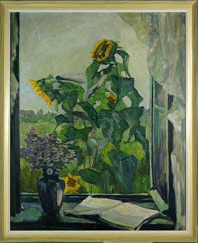 Koch, Julius 1882-1952, Blick durch ein offenes