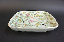 Chinese famille rose Square plate