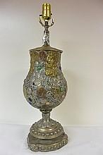 Oil lamp decoration
