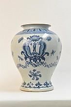 Chinese Qing Kang Xi Mark-blue & white  vase
