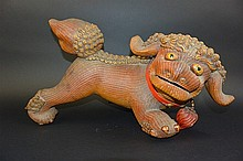 Plaited bamboo Foo Dog