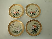 Four Pieces Small Porcelain Plates