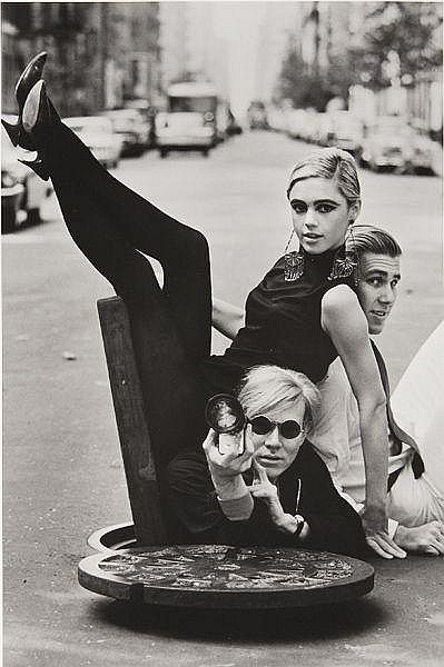 Andy Warhol with Edie Sedgwick and Chuck Wein, New York, 1965