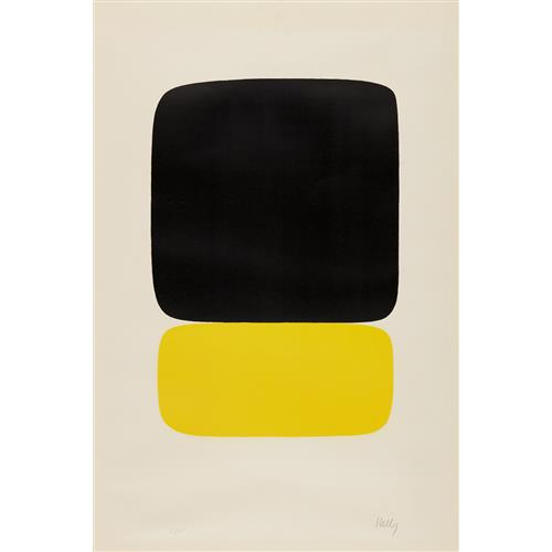 ELLSWORTH KELLY - Black over Light Yellow, 1964-65