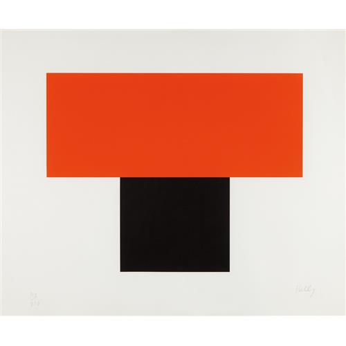 ELLSWORTH KELLY - Red-Orange over Black, 1970