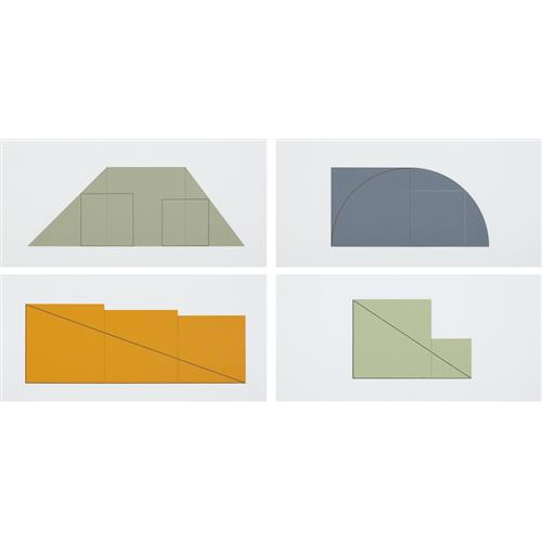 ROBERT MANGOLD - Multiple Panel Paintings, 1973-1976: A Book of Silk Screen Prints, 1977