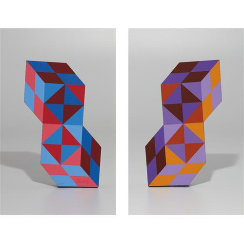VICTOR VASARELY - Stèle, 1988