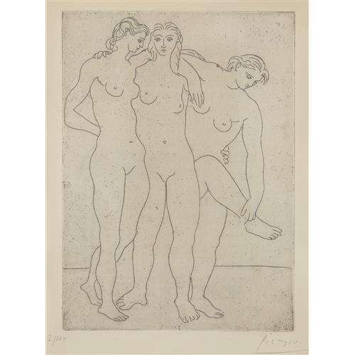 PABLO PICASSO - Les trois baigneuses III (Three Bathers III), 1923