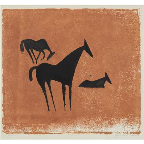 EWALD MATARÉ - Drei Pferde (Three Horses), 1932-3