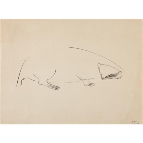 MORRIS GRAVES - Animal, 1954