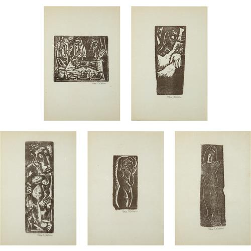 MAX WEBER - Five Prints by Max Weber, 1956