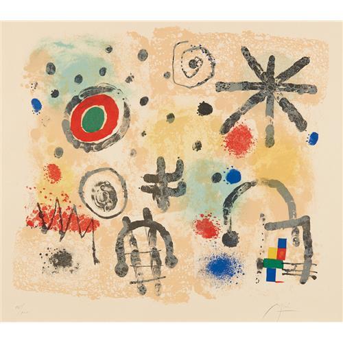 JOAN MIRÓ - Signes et météores (Signs and Meteors), 1958