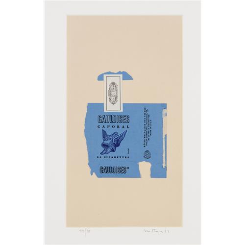 ROBERT MOTHERWELL - Gauloises Bleues, 1968