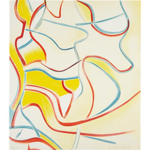 WILLEM DE KOONING - Quatre Lithographies: one print, 1986