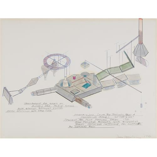 DENNIS OPPENHEIM - Assembly Line (With By-Products from a Mechanical Trance), Project for PCVA. Portland Oregon., 1980