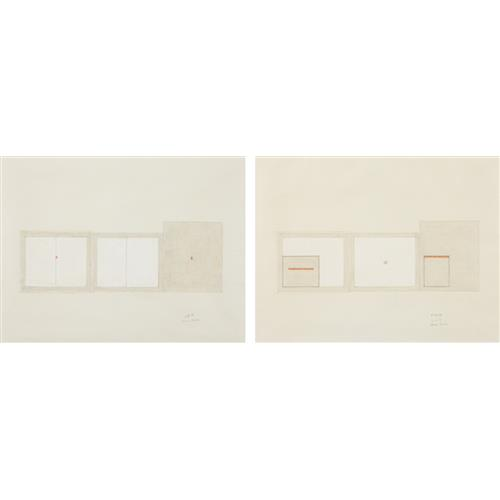 BRUCE BOICE - Untitled (4-8-74); and Untitled (5-30-74), 1974