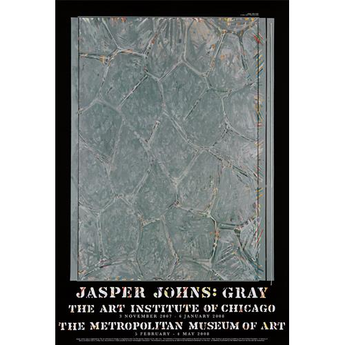 AFTER JASPER JOHNS - Gray (Within) exhibition posters: four copies, 2008