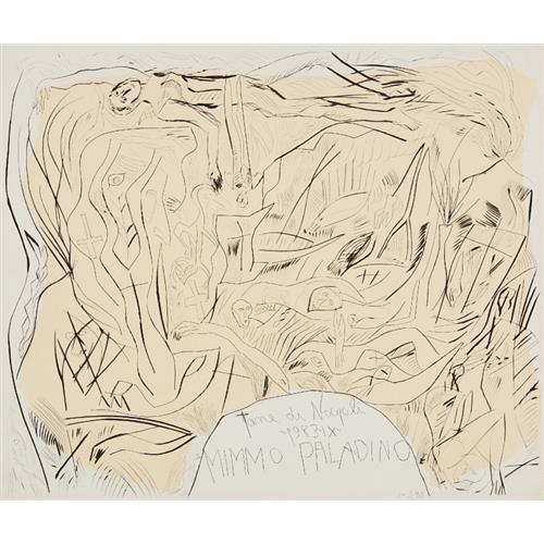 MIMMO PALADINO - Tane di Napoli portfolio cover, 1983
