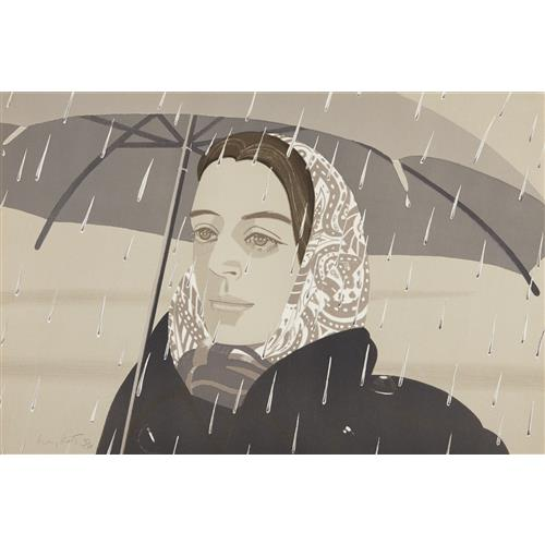 ALEX KATZ - Gray Umbrella, 1979