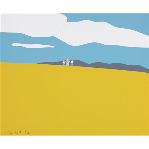 ALEX KATZ - Blueberry Field, 1968