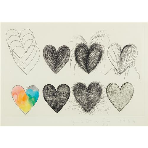 JIM DINE - Eight Hearts, 1969