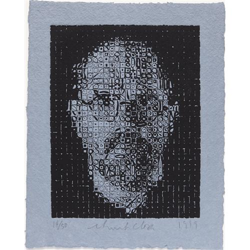 CHUCK CLOSE - Self-Portrait, 1999