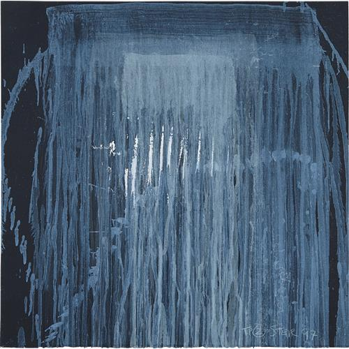 PAT STEIR - Untitled (Blue Waterfall), 1997