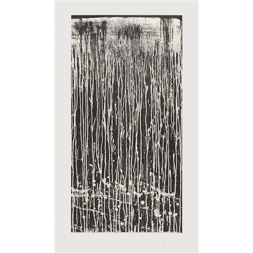 PAT STEIR - Long Vertical Falls #4, 1991