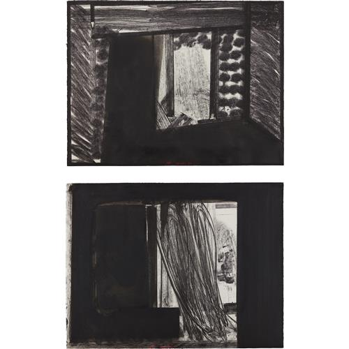 HOWARD HODGKIN - Early Evening in the Museum of Modern Art; and All Alone in the Museum of Modern Art, from In the Museum of Modern Art, 1979