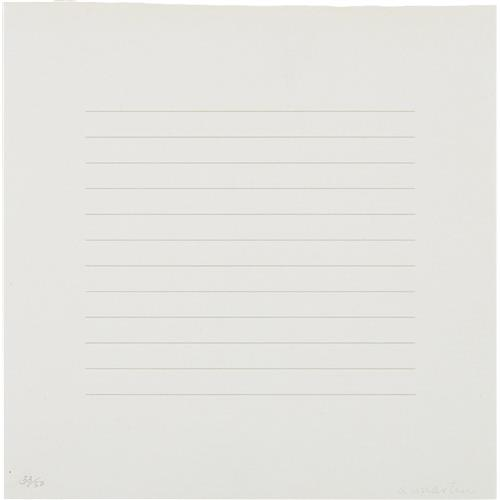 AGNES MARTIN - Untitled, 1973