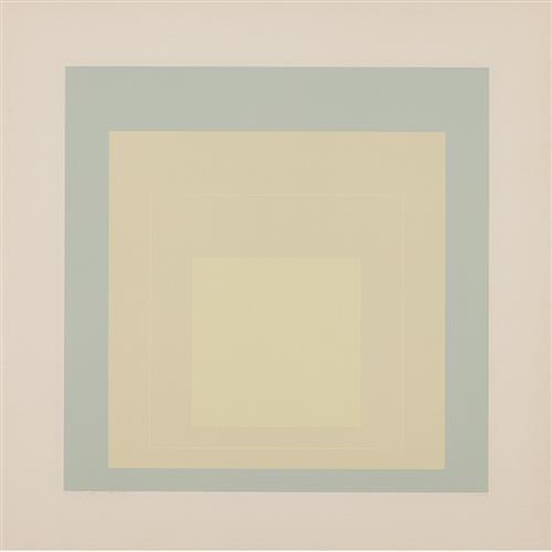 JOSEF ALBERS - White Line Squares: White Line Square VII, 1966