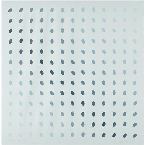 BRIDGET RILEY - Untitled (Nineteen Greys B), 1968