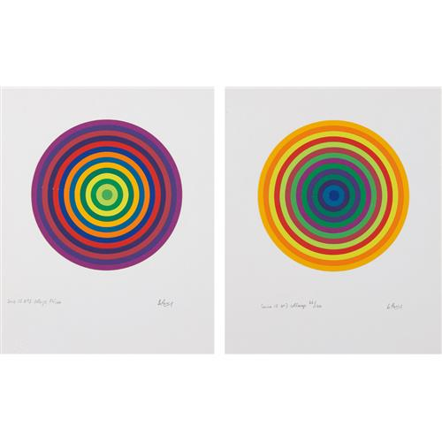 JULIO LE PARC - Serie 15 No. 3; and No. 7, 1972