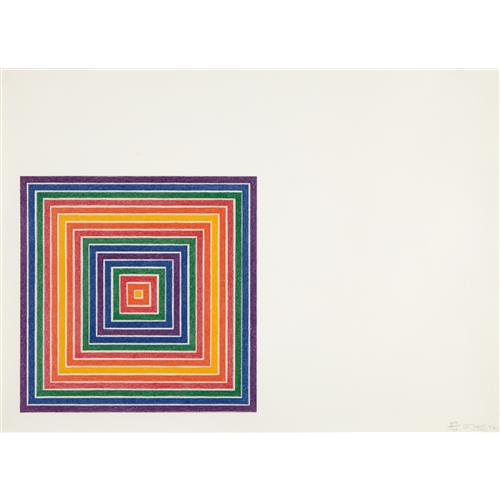 FRANK STELLA - Honduras Lottery Co., from Multicolored Squares, 1972