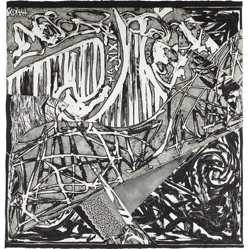 FRANK STELLA - Swan Engraving Square II, from Swan Engravings, 1982