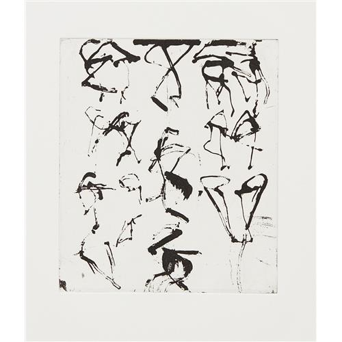 BRICE MARDEN - Etchings to Rexroth #5, 1986