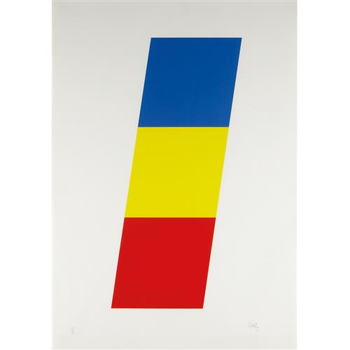 ELLSWORTH KELLY - Blue Yellow Red, 1970