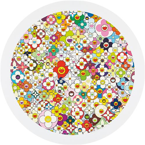 TAKASHI MURAKAMI - Super Flat, First Love, Flower, 2010