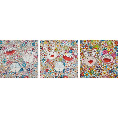 TAKASHI MURAKAMI - Kaikai and Kiki: Lots of Fun; Kaikai Kiki and Me-For Better Or Worse, In Good Times and Bad. The Weather Is Fine; and Kaikai Kiki and Me - The Shocking Truth Revealed!, 2009-2010