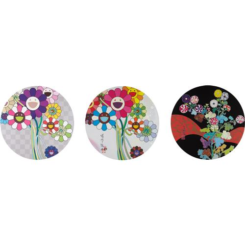 TAKASHI MURAKAMI - Even The Digital Realm Has Flowers to Offer; Purple Flowers in A Bouquet; and Kansei: Fresh Blood, 2010-2014