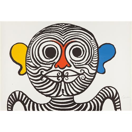 ALEXANDER CALDER - Nez et oreilles très gais (Very Gay Nose and Ears), 1969