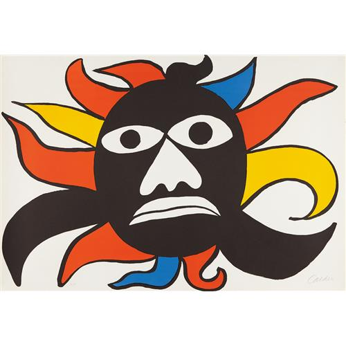 ALEXANDER CALDER - Black Face/Sun, 1969