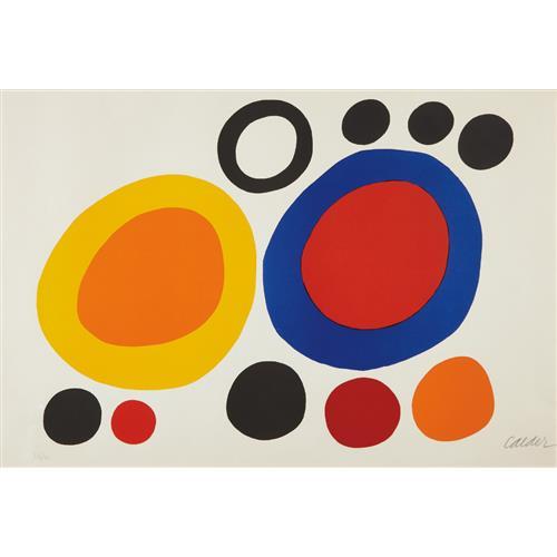 ALEXANDER CALDER - Rondelles de fumée (Smoke Rings), 1960