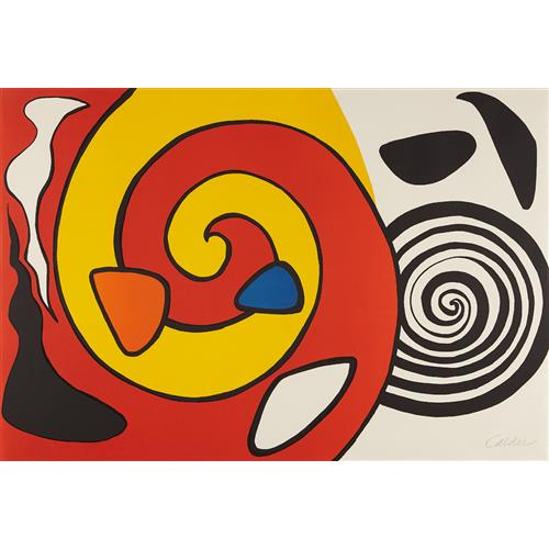 ALEXANDER CALDER - Untitled (Spirals and Forms), circa 1965