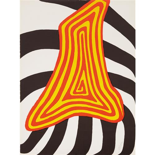 ALEXANDER CALDER - Zebra juane et zebra noir, 1976