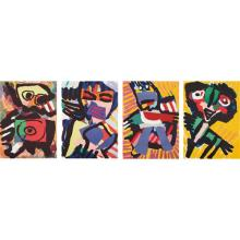 KAREL APPEL - Four figural prints, circa 1973