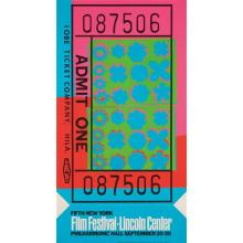 ANDY WARHOL - Lincoln Center Ticket, 1967