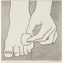 ROY LICHTENSTEIN - Foot Medication Poster, 1963